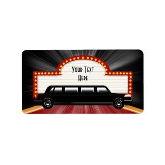 Filmstar-Limousinen-und Marquis-Adressen-Etiketten Adressaufkleber