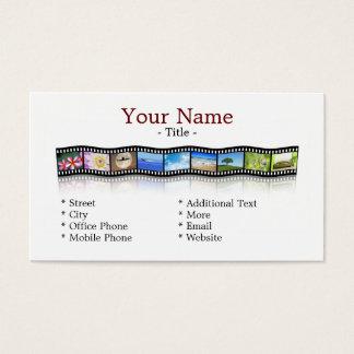 Filmstreifen Visitenkarte