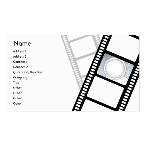 Filmstrip - Geschäft Visitenkartenvorlagen