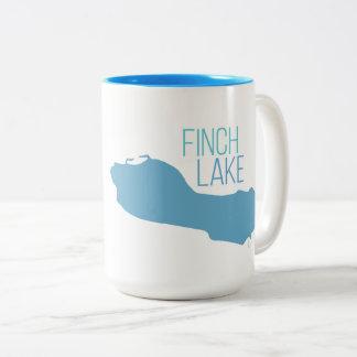 Finch See, Decatur, Michigan Zweifarbige Tasse