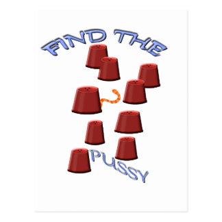 finden Sie den Pussy Postkarte