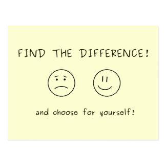 Finden Sie den Unterschied und wählen Sie für Postkarte