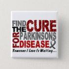Finden Sie die Heilung 1 PARKINSON KRANKHEIT T - Quadratischer Button 5,1 Cm