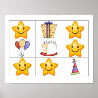 Finden Sie ein Stern-Geburtstags-Belohnungs-Plakat Poster
