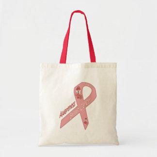 Finden Sie eine Heilung - Brustkrebs-Bewusstsein Leinentaschen