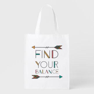Finden Sie Ihre Balance wenig Tasche Wiederverwendbare Einkaufstasche