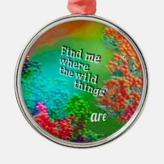 Finden Sie mich wo i-Liebe zu sein Rundes Silberfarbenes Ornament