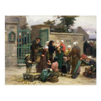 Findlinge (Öl auf Leinwand) einlassen Postkarte