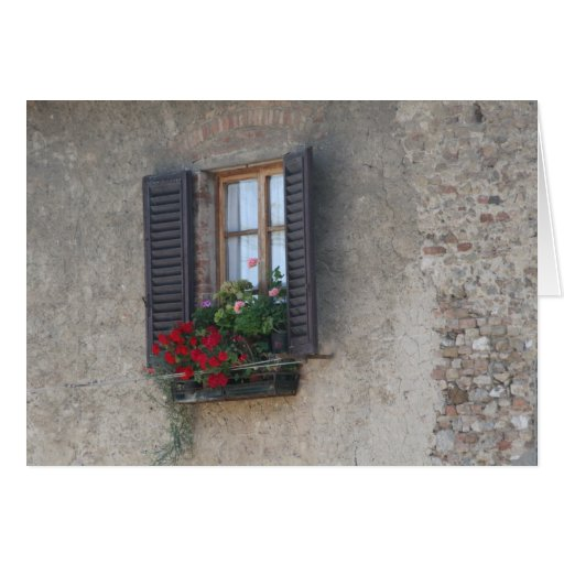 Finestra Di Villa, Toskana, Italien Grußkarte