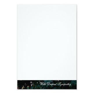 Finger der Gott-Baum-Beileidskarten 8,9 X 12,7 Cm Einladungskarte