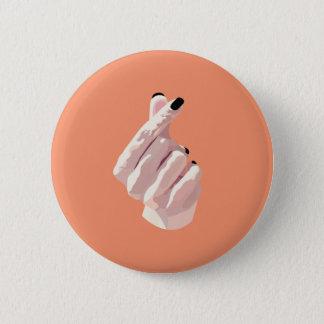 Finger-Herz Abzeichen Runder Button 5,1 Cm