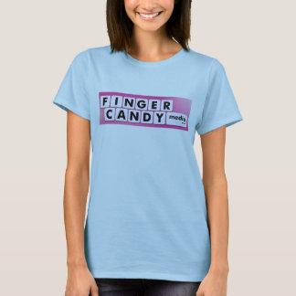 FINGER-SÜSSIGKEITS-Logo T-Shirt