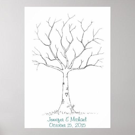 Fingerabdruck-Baum (2) Plakat