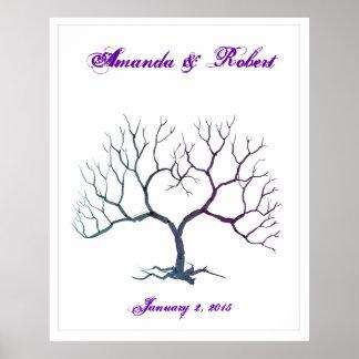 Fingerabdruck-Baum Poster