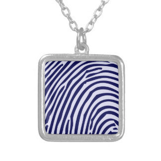 Fingerabdruck-blaue Farblustige Foto-Entwurfs-Arte Selbst Gestaltete Halskette