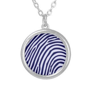 Fingerabdruck-blaue Farblustige Foto-Entwurfs-Arte Schmuck