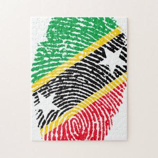 Fingerabdruck-Flagge des Heiligen Kitts. Puzzle