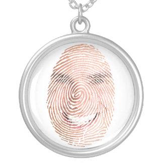 Fingerabdruck-Gesichts-Andenken-Charme Halskette Mit Rundem Anhänger