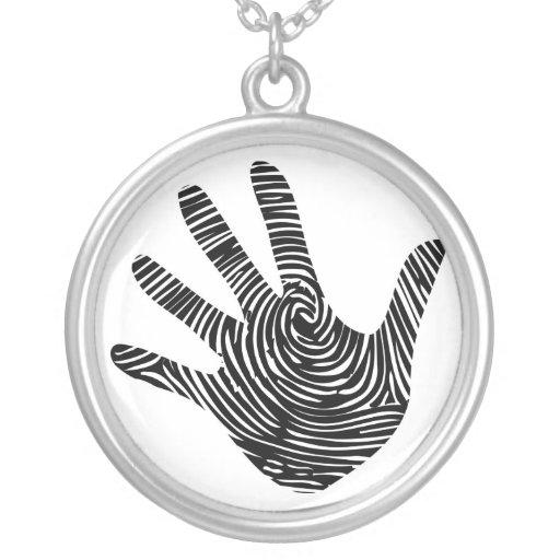 Fingerabdruck-Handhalskette Halskette
