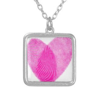 Fingerabdruck-Herz Personalisierter Schmuck