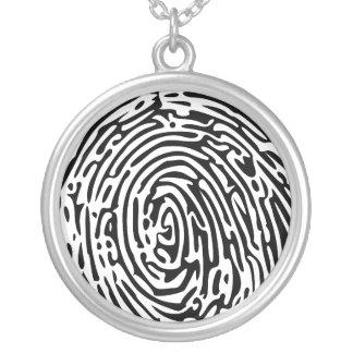 Fingerabdruck-Hintergrund Halskette Mit Rundem Anhänger