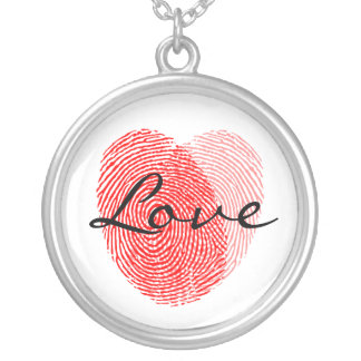Fingerabdruck-Liebe-Quadrat-Andenken-Charme Halsketten