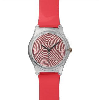 Fingerabdruck-Muster - kundenspezifische RetroFlat Armbanduhr