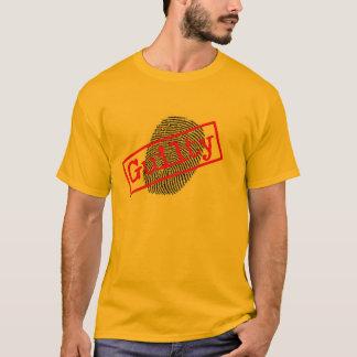 Fingerabdruck-T - Shirt der Männer schuldiger Gold