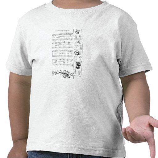 Fingerplay Lied von Knospe zu Frucht T-shirt