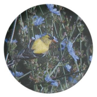 Fink-Blumenplatte Flache Teller