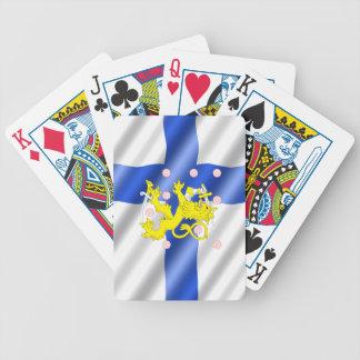 Finnische Flagge Bicycle Spielkarten