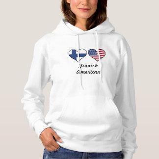 Finnische Flagge-Herzen Hoodie