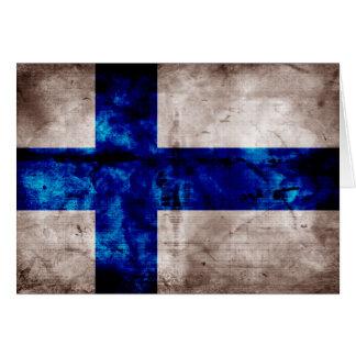 Finnische Flagge Mitteilungskarte