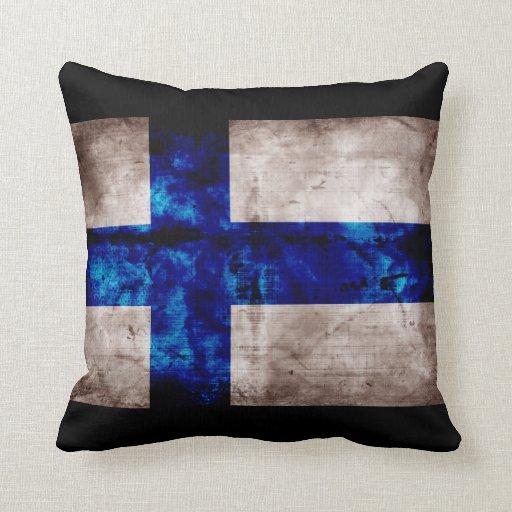Finnische Flagge Kissen