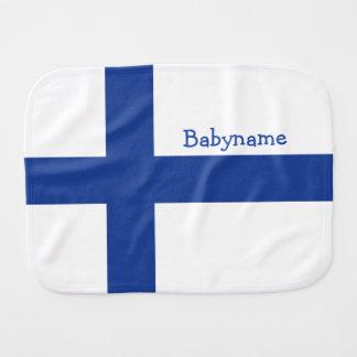 Finnische Flagge kundenspezifischer Burpstoff Spucktuch
