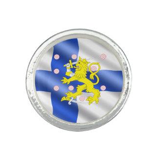 Finnische Flagge Ringe