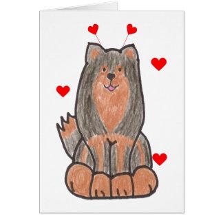 Finnische Lapphund Valentinsgruß-Ohren Karte