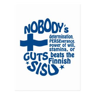 Finnische SISU Postkarte - fertigen Sie besonders