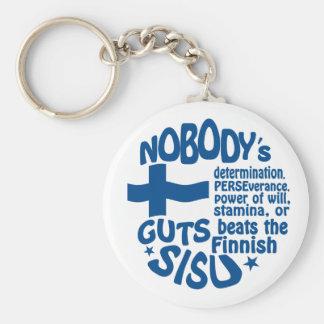 Finnische SISU Schlüsselkette Standard Runder Schlüsselanhänger