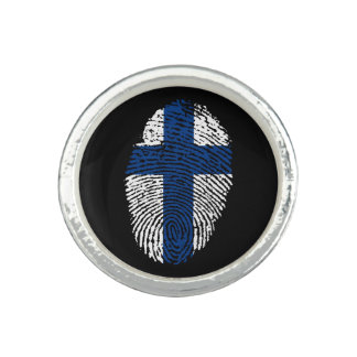 Finnische Touchfingerabdruckflagge Ringe