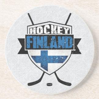 Finnischer Eis-Hockey-Schild Suomi Untersetzer