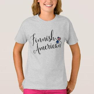 Finnisches Amerikaner Entwinted Herz-T-Shirt T-Shirt