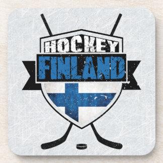 Finnisches Eis-Hockey-Schild Suomi Untersetzer-Set Getränkeuntersetzer