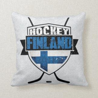 Finnisches Hockey-Schild Suomi Kissen