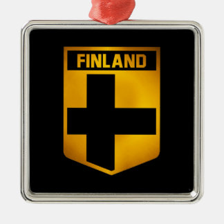 Finnland-Emblem Silbernes Ornament