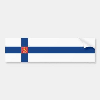 Finnland/finnische/Finn-Flagge Autoaufkleber