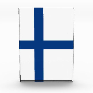 Finnland-Flagge Acryl Auszeichnung