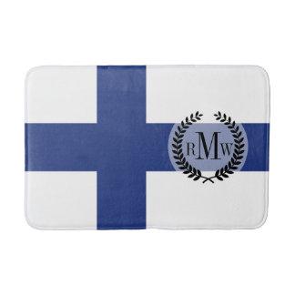 Finnland-Flagge Badematte