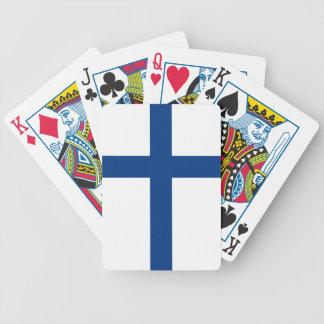 Finnland-Flagge Bicycle Spielkarten