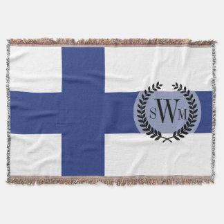 Finnland-Flagge Decke